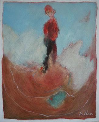 """Olivier LE NAN """"Ressentir"""" huile sur toile 27 cm x 22 cm 190 €"""