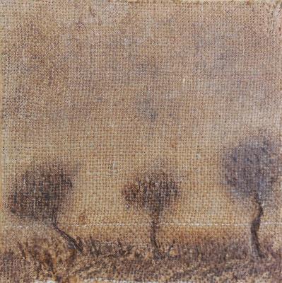 """Christian Ronceray """"Par les chemins... VI"""" 20 cm x 20 cm technique mixte sur toile 200 €"""