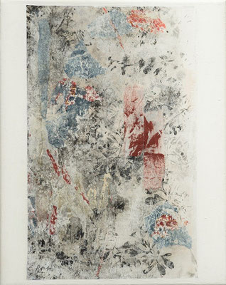 """Elisabeth POIRET """"Sans titre 1"""" 30 cm x 24 cm technique mixte sur toile 250 €"""