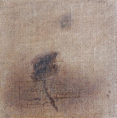 """Christian Ronceray """"Par les chemins... VII"""" 20 cm x 20 cm technique mixte sur toile 200 €"""