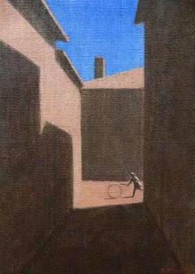 """Akitoshi YAMADA """"Cerceau"""" 27 cm x 19 cm acrylique sur toile 180 €"""