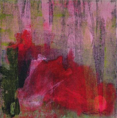 """Caty BANNEVILLE """"Dans les plis"""" 25 cm x 25 cm encres et pigments sur toile de lin 130 €"""