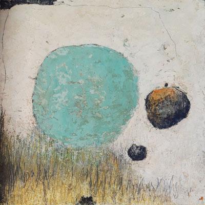 """Elisabeth Gore """"Au printemps"""" 30 cm x 30 cm technique mixte sur toile 320 €"""