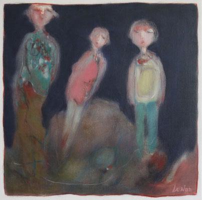 """Olivier LE NAN """"Nuit"""" 40 cm x 40 cm huile sur toile 480 €"""
