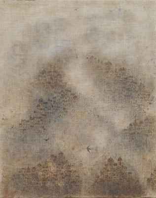 """Christian RONCERAY """"Instant d'éternité VII"""" 100 cm x 80 cm technique mixte sur toile"""