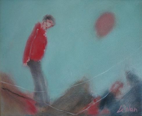 """Olivier LE NAN """"Le solitaire"""" huile sur toile 22 cm x 27 cm 190 €"""