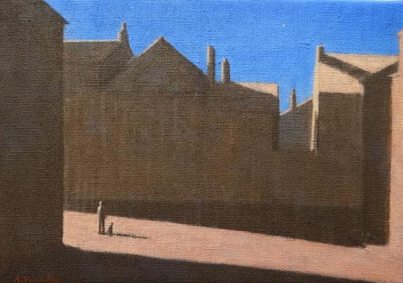 """Akitoshi YAMADA """"Etoile du soir"""" 19 cm x 27 cm acrylique sur toile VENDU"""