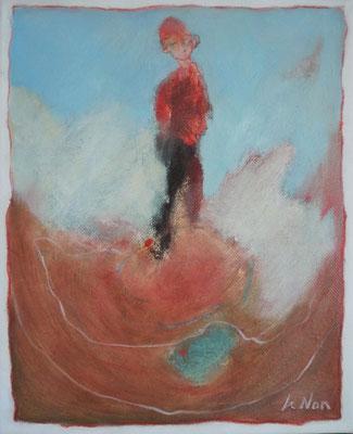 """Olivier LE NAN """"Ressentir"""" 27 cm x 22 cm huile sur toile 190 €"""
