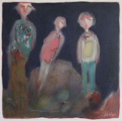 """Olivier LE NAN """"Nuit"""" huile sur toile 40 cm x 40 cm 480 €"""