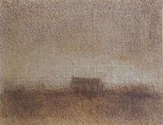 """Christian Ronceray """"Paysage-Mémoire LI"""" 27 cm x 35 cm technique mixte sur toile 310 €"""