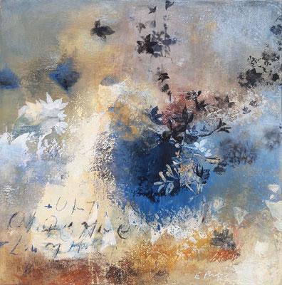 """Elisabeth POIRET """"Sans titre 190908"""" 50 cm x 50 cm technique mixte sur toile 625 €"""