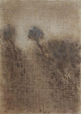 """Christian Ronceray """"Par les chemins... X"""" 33 cm x 24 cm technique mixte sur toile 260 €"""
