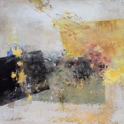 """Elisabeth POIRET """"Sans titre 191001"""" 50 cm x 50 cm technique mixte sur toile 625 €"""