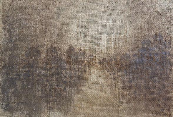 """Christian Ronceray """"Paysage-Mémoire XLIX"""" 24 cm x 35 cm technique mixte sur toile 280 €"""