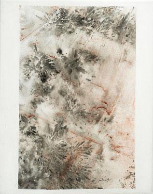 """Elisabeth POIRET """"Sans titre 2"""" 30 cm x 24 cm technique mixte sur toile 250 €"""