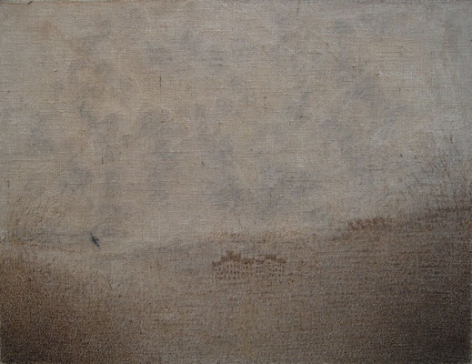 """Christian RONCERAY """"Seul, l'oiseau...II"""" 89 cm x 116 cm technique mixte sur toile"""