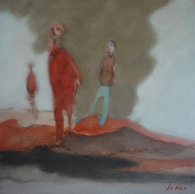 """Olivier LE NAN """"Les signes du ciel"""" huile sur toile 40 cm x 40 cm 480 €"""