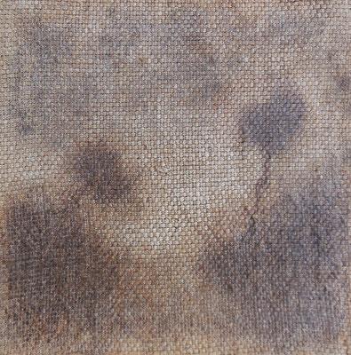 """Christian Ronceray """"Par les chemins... III"""" 20 cm x 20 cm technique mixte sur toile 200 €"""