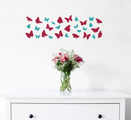 These flying butterfly stickers add a bit of colour and they are very fun to dot around a bedroom! Add them to the walls and furniture!