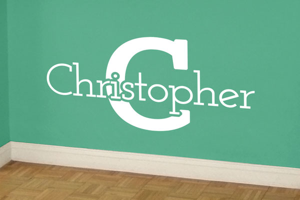 A personalised name on a child's wall can make a boring room their own!