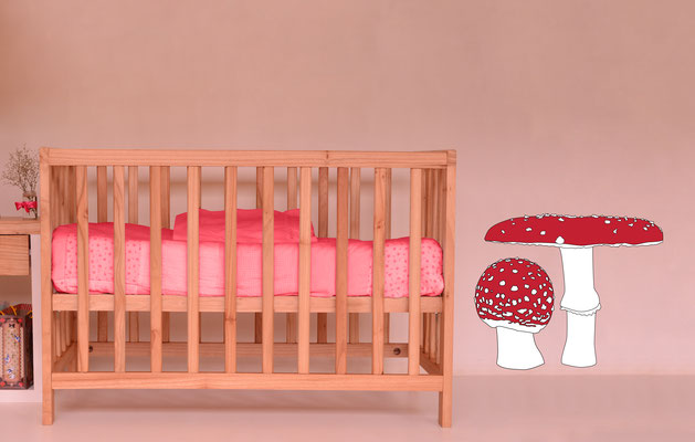 Mushrooms stickers great for forest or an Alice in wonderland themed bedroom.