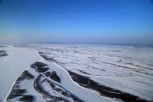 Над Леной. Заход на посадку. Фото Зуева А.П.
