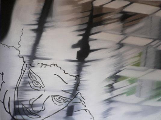 sonntagsausbruch   |   Öl/Lack auf Aluminium   |   90 x 120 cm   |   2006