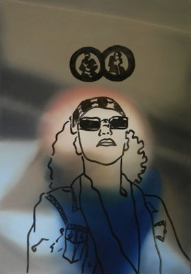 blues sister   |   Öl/Lack auf Leinwand   |   120 x 90 cm   |   2005