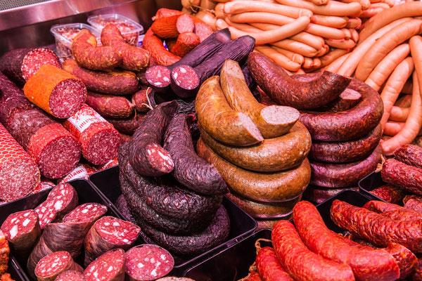 Salami und Schwarzwurst