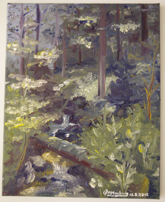 Schwarzwaldbach (40 x 50 cm): 120 Euro