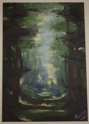 Mystischer Waldweg (70 x 99,5 cm)