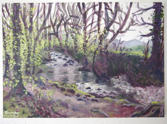 Frühlingserwachen am Dreisam-Ursprung (70 x 50 cm)