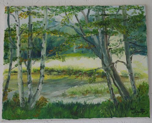 Am Weiher (29,5 x 23 cm: 180 Euro)