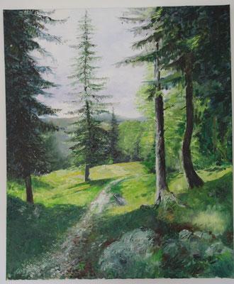 Weg über Kuhweide (50 x 59,5 cm: 380 Euro)