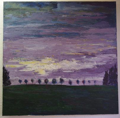 Abenddämmerung (99,5 x 99,5 cm)