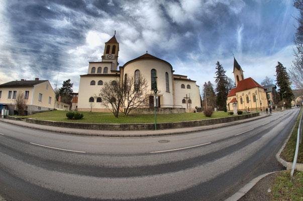 Eichgraben - Kirche mit Wiener Str., 2015 -  D700