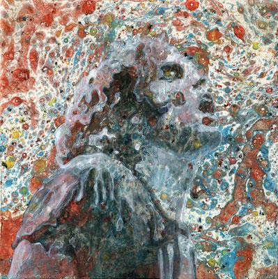 Mane Hellnthal, Jim Morrison, 2014, 20 x 20 cm, Öl, Acryl auf Leinwand, ABC Westside Galerie