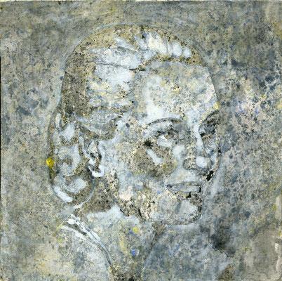 Mane Hellenthal, Evita Peron, 2011, 20 x 20 cm, Öl, Acryl auf Leinwand, ABC Westside Galerie
