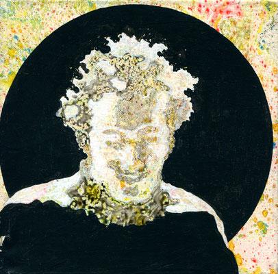 Mane Hellenthal, Dylan, 2012, 20 x 20 cm, 2012, Öl, Acryl auf Leinwand, ABC Westside Galerie