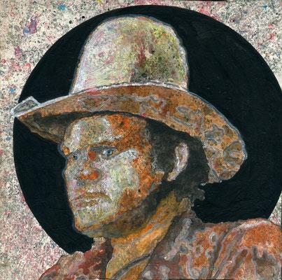 Mane Hellenthal, Hoss, 2010, 20 x 20 cm, 2012, Öl, Acryl auf Leinwand, ABC Westside Galerie