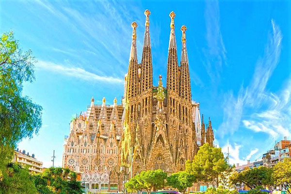 Каталония, город Барселона. Саграда Фамилия. Sagrada Familia, Barcelona