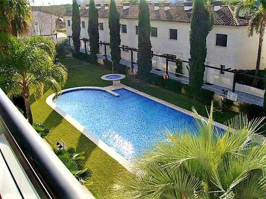 Апартамент в Плайя де Аро, Порт Марина, жилой комплекс с бассейном и садом