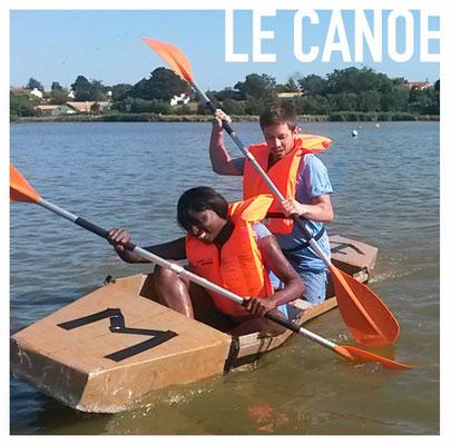 Le Canoe en carton