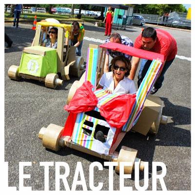 Le tracteur en carton