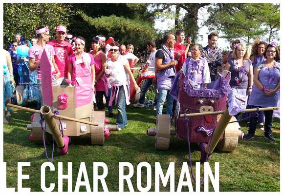 Le char romain en carton