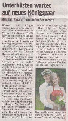 GVU-Königspaar Mathias & Lisanne