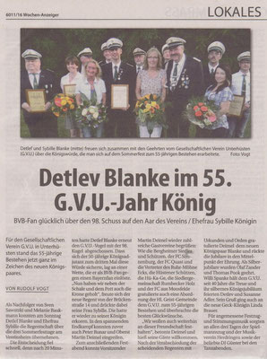 GVU-Königspaar Detlef & Sybille