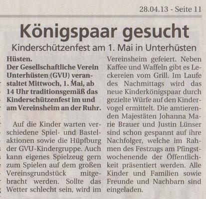 GVU-Kinderschützenfest 2013