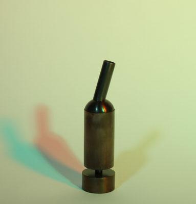 Pfeffermühle Millpecker, Unikatpfeffermühle aus Messing, mit Silberlot gelötet, Keramikmahlwerk für Pfeffer, Foto Kai Schmitzer, colourflash