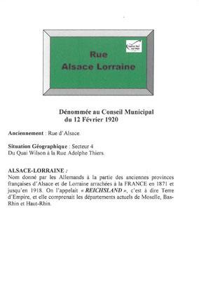 Rue Alsace Lorraine